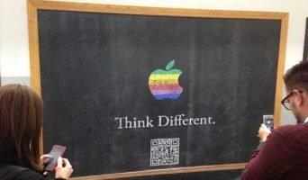 think different chalkboard