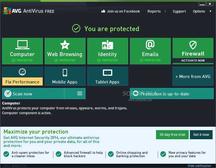 AVG Antivirus Free 2014 Build 4355a7262 Now Available for Download