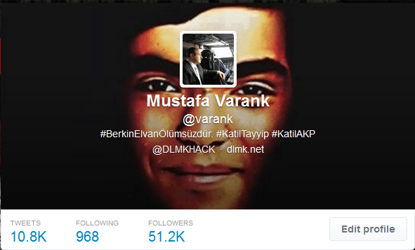 Twitter Account of Mustafa Varank