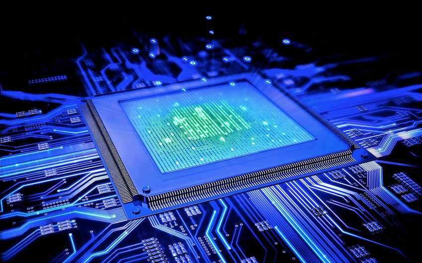 cpu, chip, computer