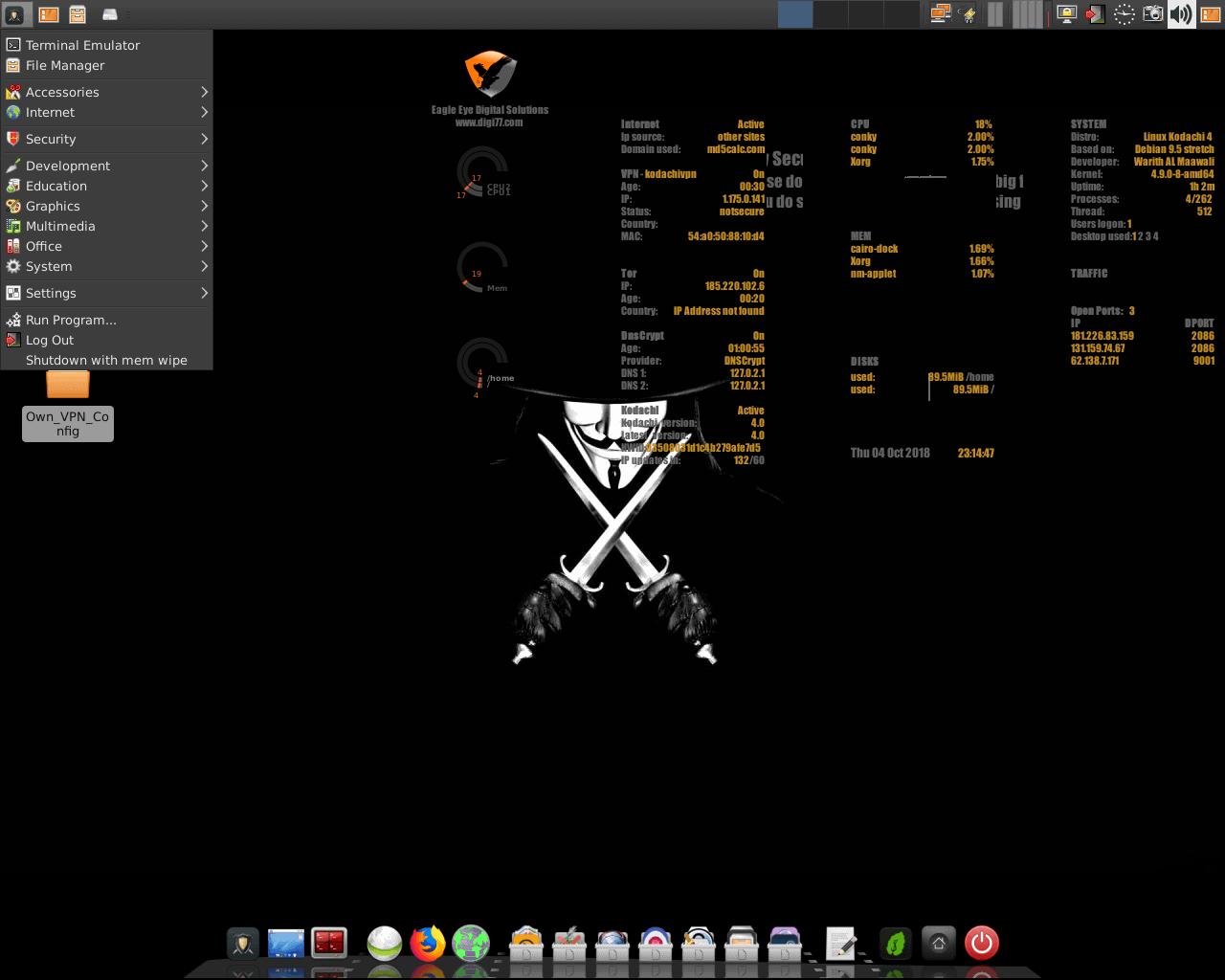 kodachi - Kodachi Linux 8.3 anti forensic ανώνυμο λειτουργικό
