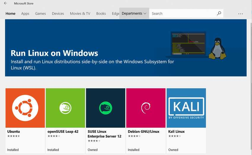 Windows 10 wsl