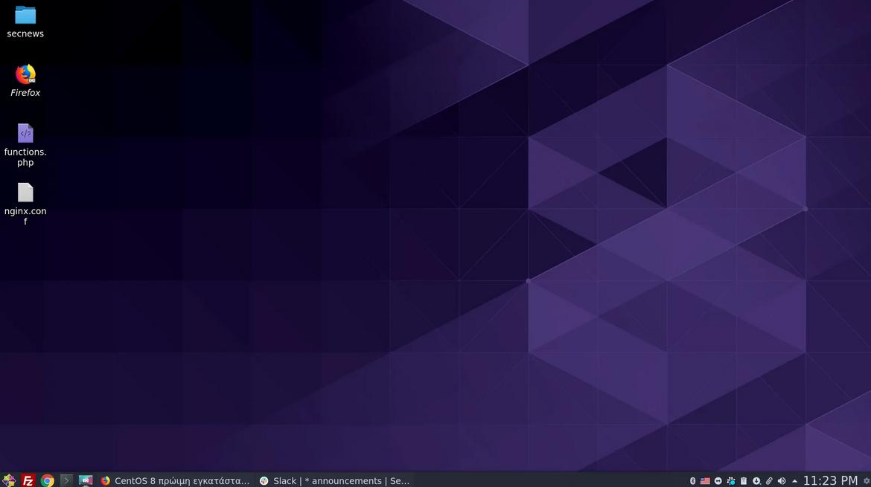 CentOS 8 πρώιμη εγκατάσταση του KDE Plasma