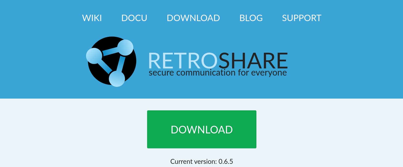 Retroshare free, open-source encrypted internet
