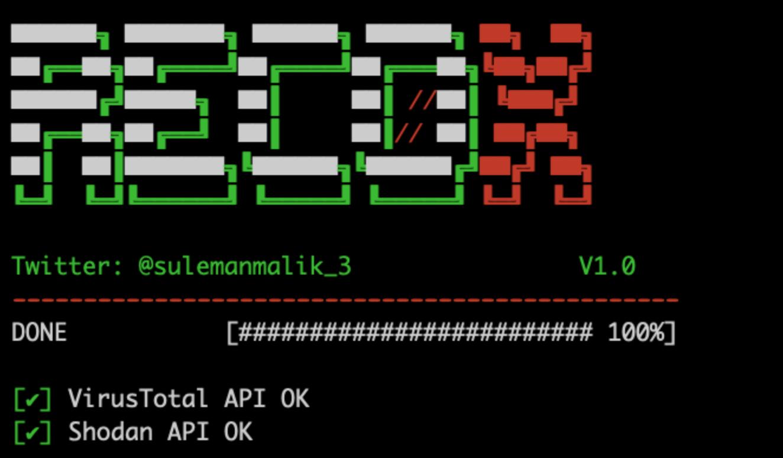 Recox: Top Script for Web Reconnaissance
