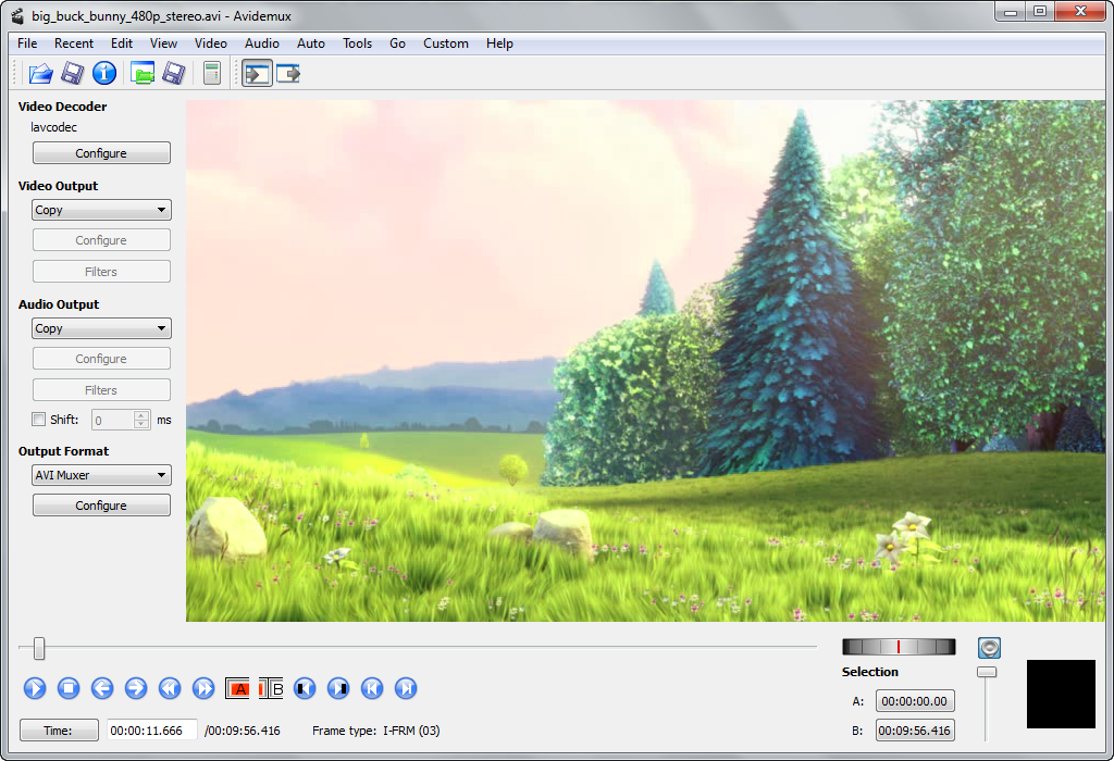 Avidemux 2.6.1 - Avidemux 2.7.8 δωρεάν επεξεργαστής βίντεο