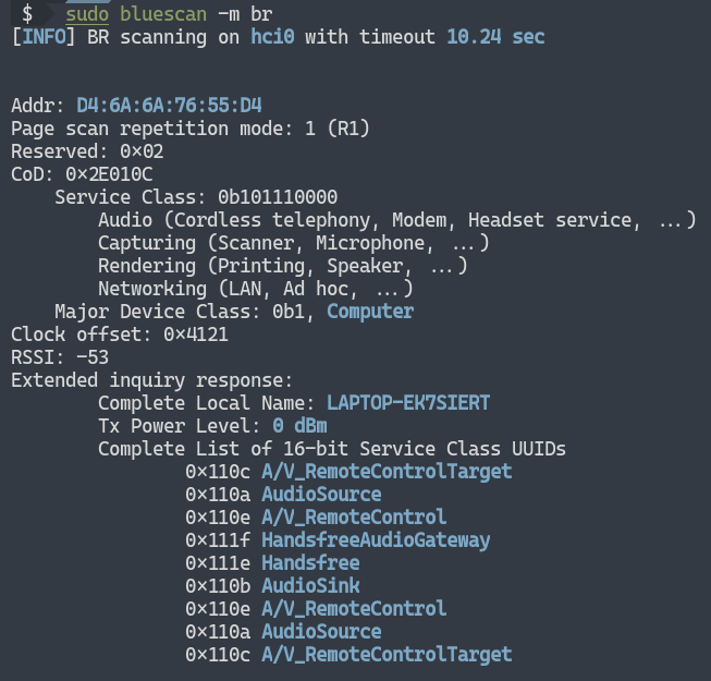 example br scan 1 - bluescan: Ένας πανίσχυρος Bluetooth scanner