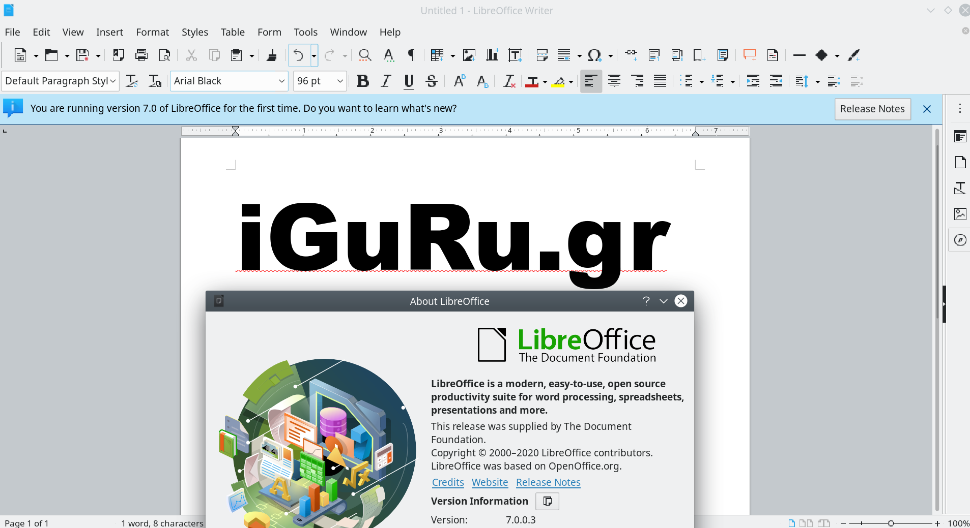 libreoffice 7 - LibreOffice 7.1.0 stable has just been released