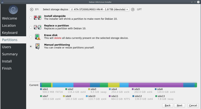 4disk - Debian 10.6 Buster νέα εγκατάσταση