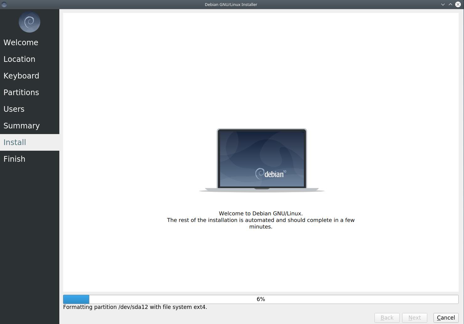 9installing - Debian 10.6 Buster νέα εγκατάσταση