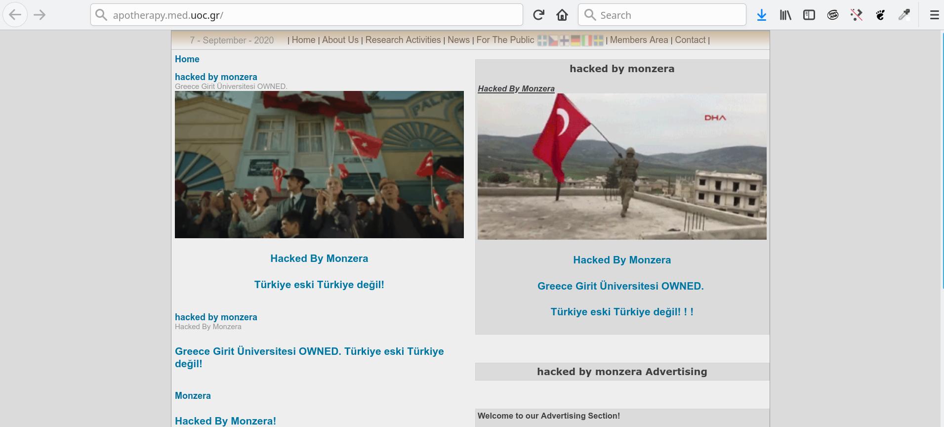 Screenshot 2020 09 07 19 07 00 - Παραβιάστηκαν subdomains του sch.gr και του uoc.gr