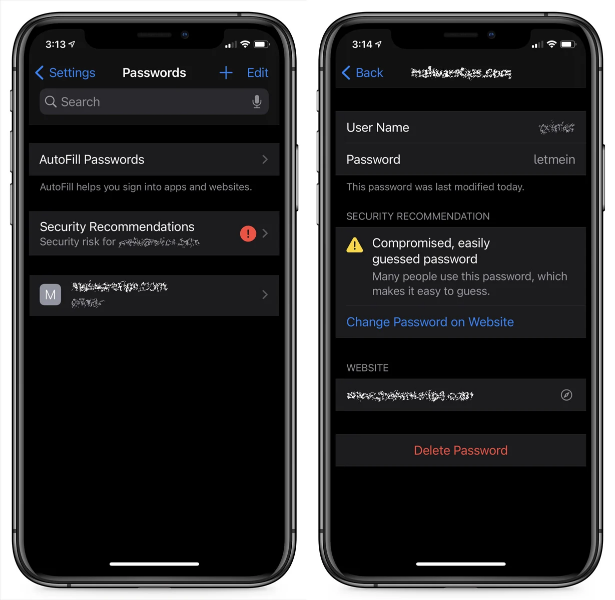 Screenshot 2020 09 18 Hands on with iOS 14s new data breach notification feature - iOS 14 Enable data breach notification