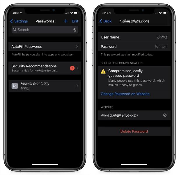 Screenshot 2020 09 18 Hands on with iOS 14s new data breach notification feature - iOS 14 Ενεργοποιήστε την δυνατότητα ειδοποίησης παραβίασης δεδομένων