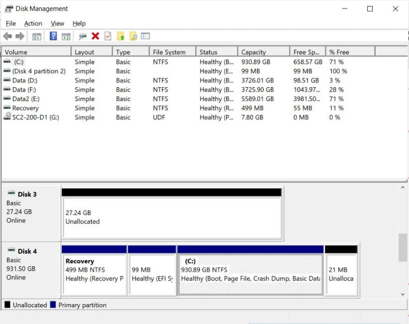 "Screenshot 2020 09 28 Hands on with Windows 10s new modern disk management tool - Windows 10 New ""modern"" disk management tool"