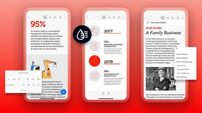 adobe acrobat reader liquid - Adobe stops the nightmare of reading PDF on your phone