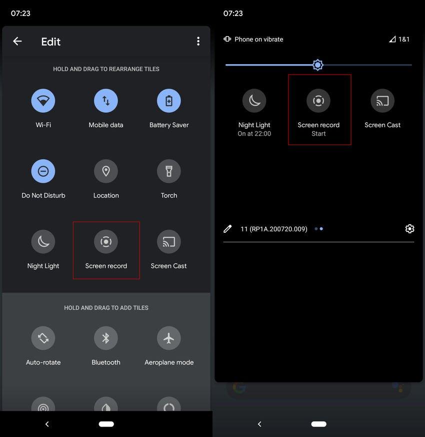 android 11 add screen record option - Χρησιμοποιήστε την ενσωματωμένη εγγραφή οθόνης του Android 11