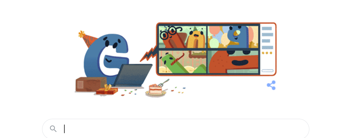 google doodle 22 - Google is celebrating its 22nd anniversary online