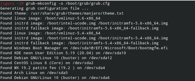 grub menu - Debian 10.6 Buster νέα εγκατάσταση