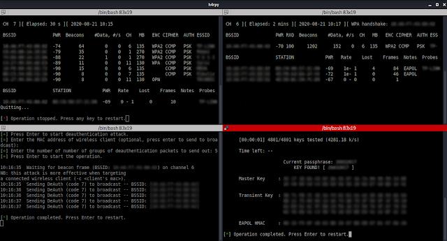 h4rpy 2 - H4Rpy: Αυτοποιημένες επιθέσεις WPA/WPA2 PSK