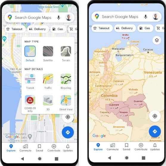 maps google covid - Οι Χάρτες της Google θα δείχνουν την διασπορά του Covid-19