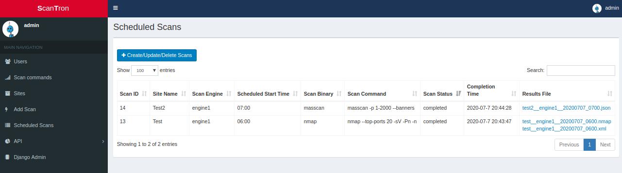 scheduled scans - scantron: nmap scanning framework