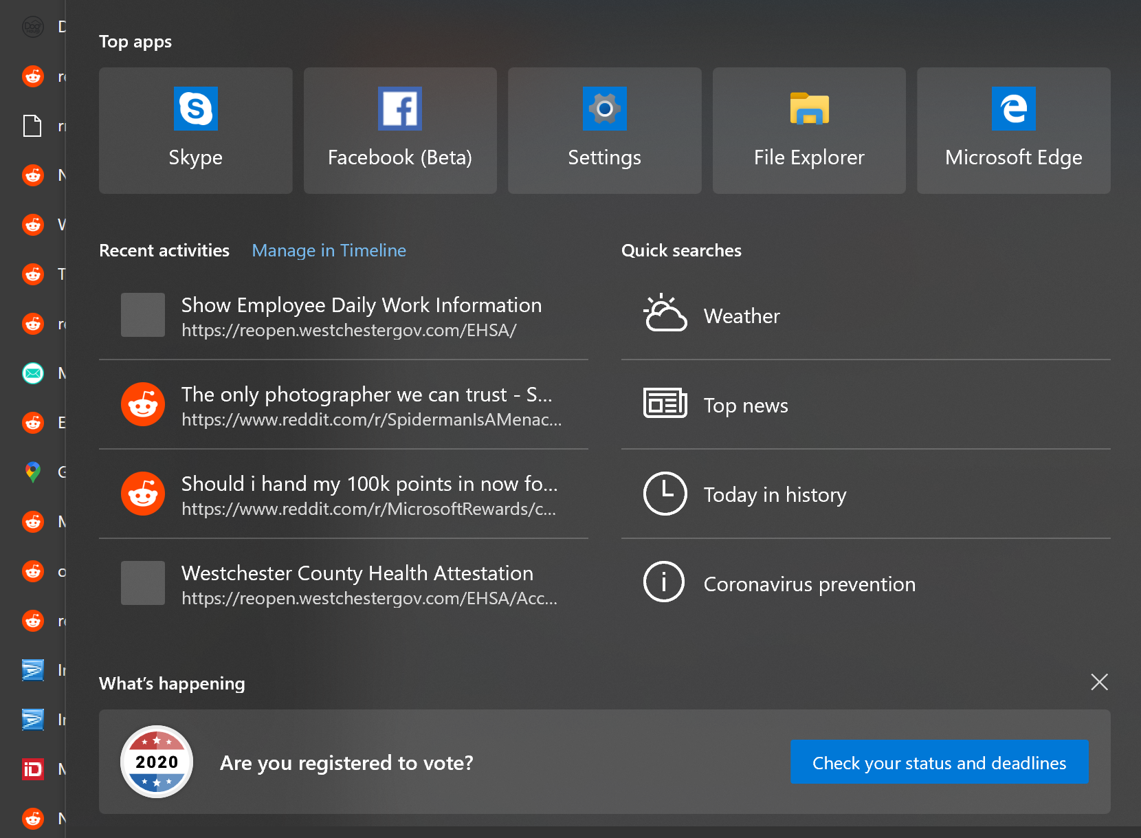 windows search - Windows 10 Search: vote for the President!