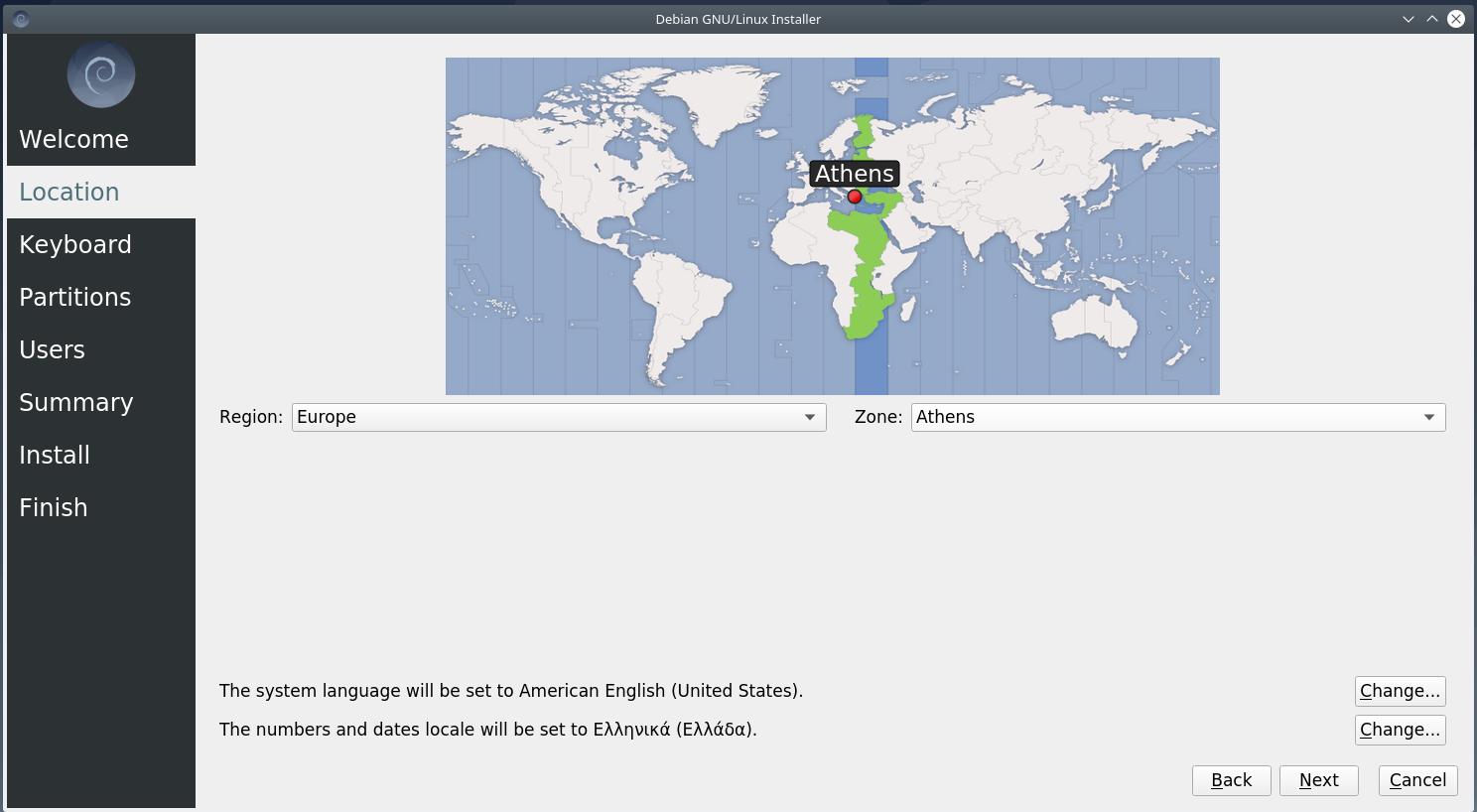 zo - Debian 10.6 Buster νέα εγκατάσταση