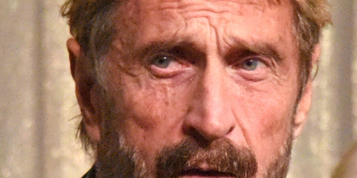 John McAfee 1 - John McAfee arrested in Spain