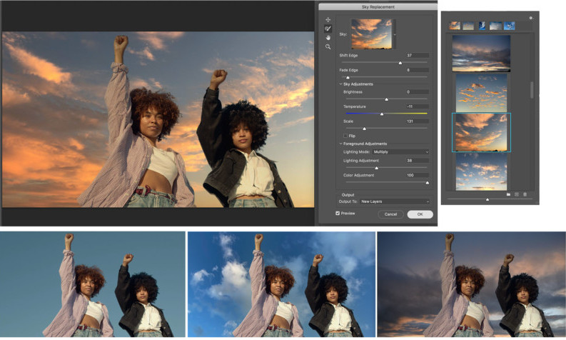 Photoshop Sky Replacement - Great Photoshop update utilizes AI for new effects