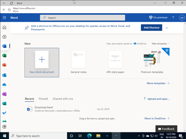 Screenshot 2020 10 15 Microsoft is forcibly installing Office PWAs in Windows 102 - Η Microsoft εγκαθιστά PWA του Office στα Windows 10