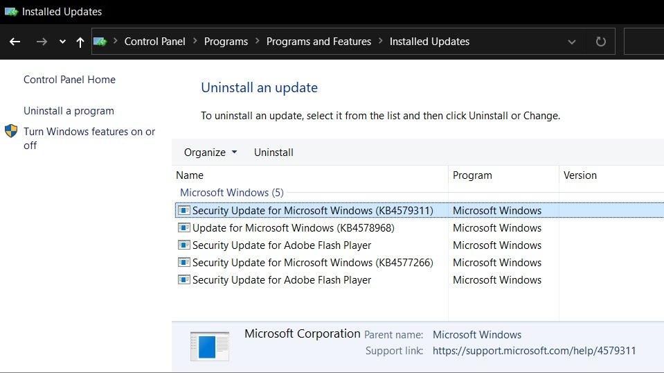Uninstall - Windows 10 KB4579311 & KB4577671 προκαλούν προβλήματα