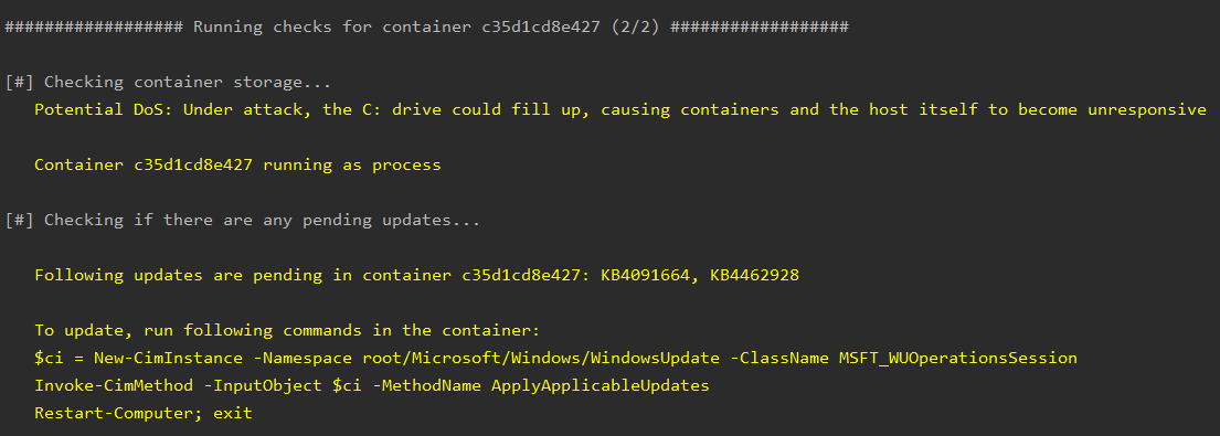 containercheck - Whalescan: vulnerability scanner για Windows containers