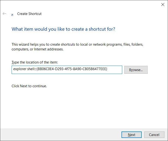 create shortcut - Windows 10 20H2 πάει το System από τον Πίνακα Ελέγχου