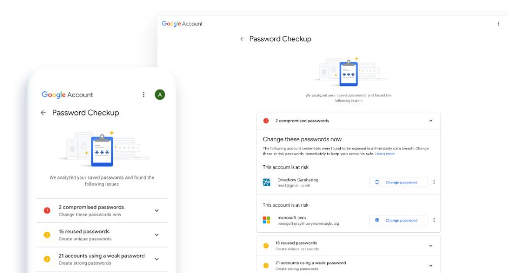 google password checkup - Chrome 86 βελτιώσεις στους κωδικούς πρόσβασης