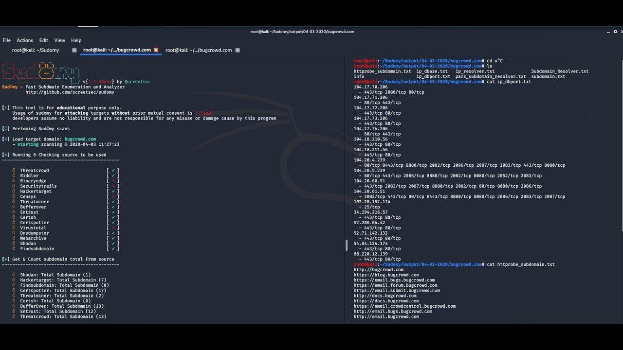 maxresdefault - Sudomy Ανάλυση subdomain