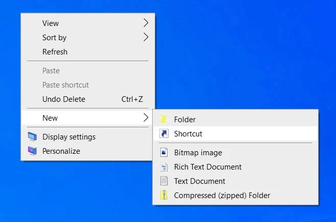 new shortcut - Windows 10 20H2 πάει το System από τον Πίνακα Ελέγχου