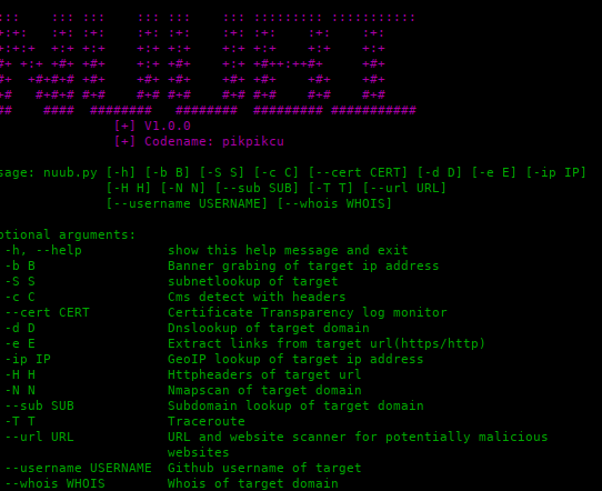 nuub - NUUBI: Recon Tools and Scanners for complete penetration testing