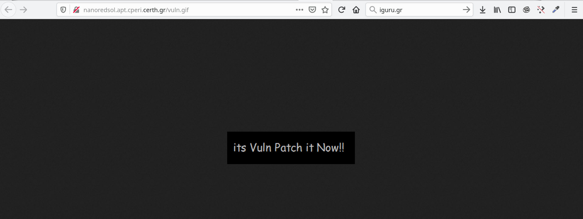 vuln - Hacked Εθνικό Κέντρο Έρευνας και Τεχνολογικής Ανάπτυξης