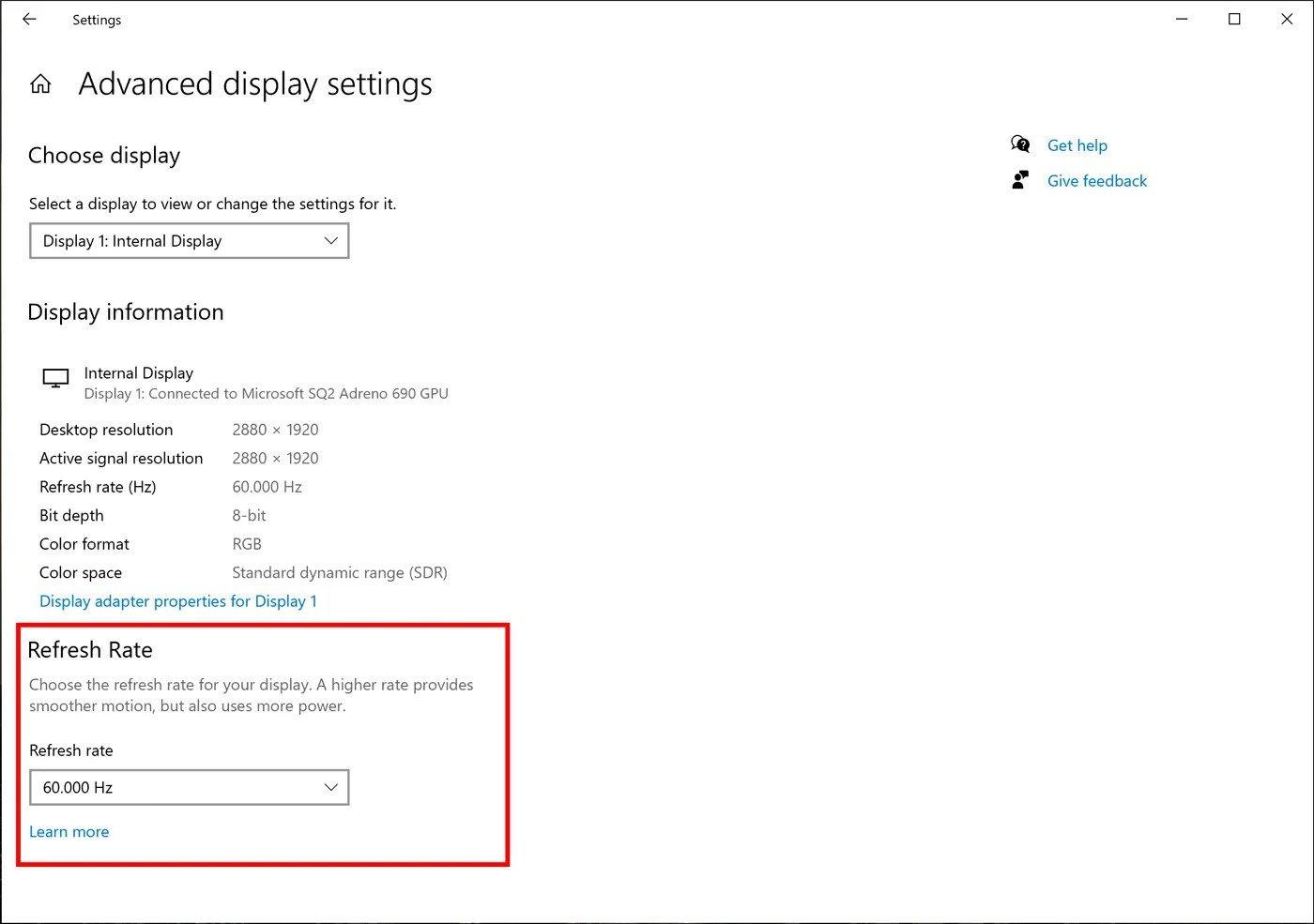 windows 10 rate - Windows 10 με ρυθμίσεις για τον ρυθμό ανανέωσης της οθόνης