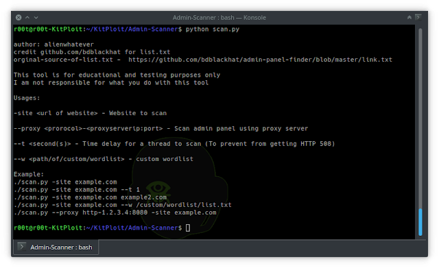 Admin Scanner - Admin-Scanner: Ανακάλυψε Admin Panels από ιστοσελίδες