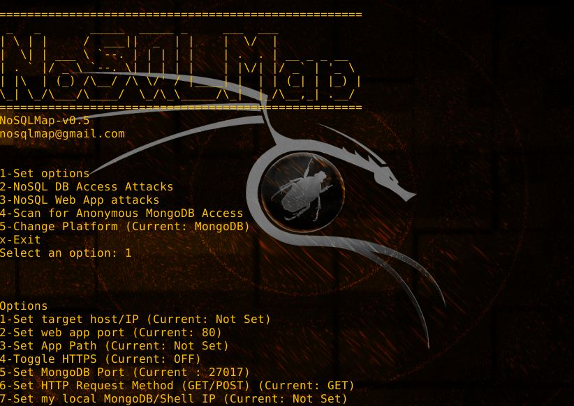 NoSQLMap v0 5 - NoSQLMap: NoSQL Automated Attacker