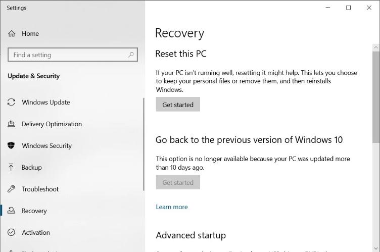 Screenshot 2020 11 30 How to get more time to uninstall Windows 10 feature updates1 - Windows 10 αφαίρεση ενημέρωσης δυνατοτήτων μετά το όριο των 10 ημερών