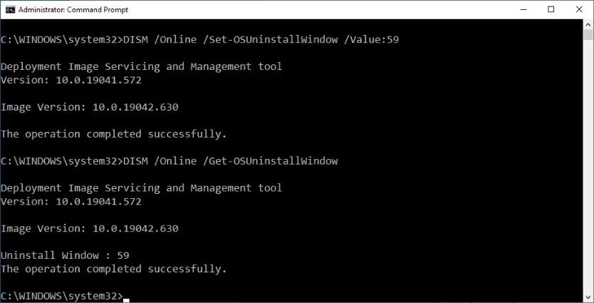 Screenshot 2020 11 30 How to get more time to uninstall Windows 10 feature updates3 - Windows 10 αφαίρεση ενημέρωσης δυνατοτήτων μετά το όριο των 10 ημερών