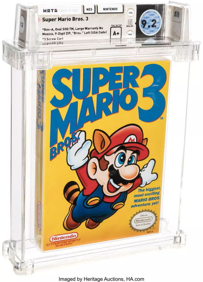 super mario bros 3 unique - Το Super Mario Bros. 3 πουλήθηκε για 156.000 $