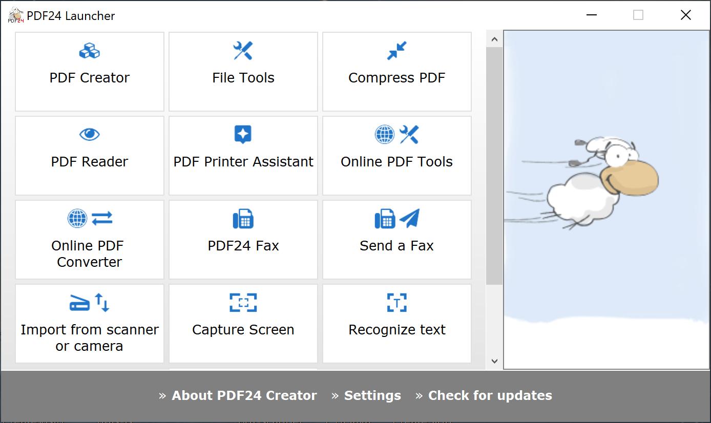 ui launcher 1 - PDF24 Creator 10.0.0 free multi-tool