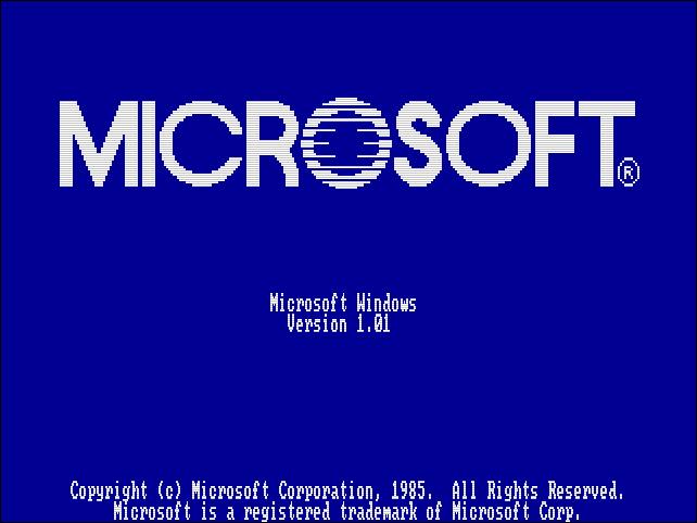 window 1 boot Screen - 35 Χρόνια Microsoft Windows: Θυμάστε τα Windows 1.0 ;