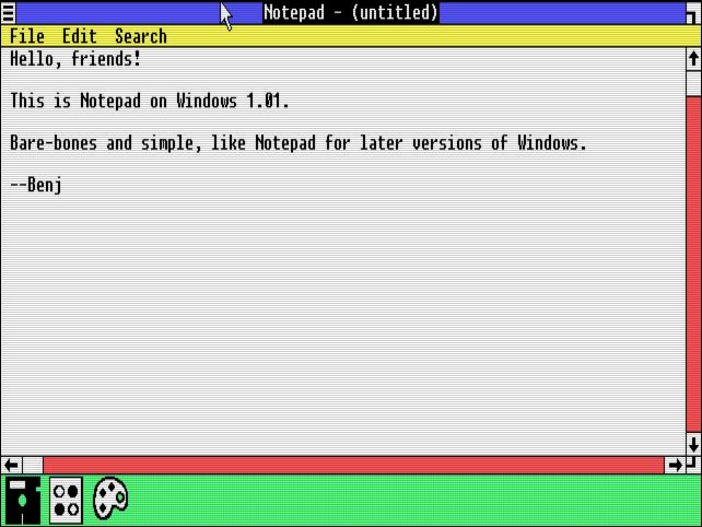 windows 1 notepad - 35 Χρόνια Microsoft Windows: Θυμάστε τα Windows 1.0 ;
