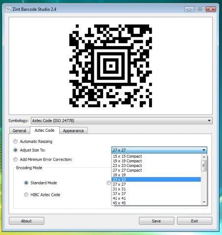 zint barcode studio - Τα καλύτερα δωρεάν λογισμικά δημιουργίας QR κώδικα